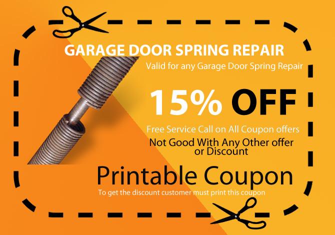 garage door broken spring replacement